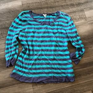 Talbots Blue Striped Pullover Sweater XL